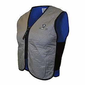 A cooling vest that works with evaporation.